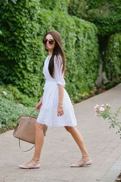 white dress season is here! need a graduation dress like this!