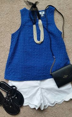 Old Navy top, loft shorts, Kate Spade bag and TB shoes.