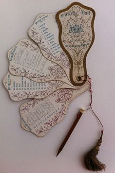 Dance Card with Pencil for 1868 Citizen' Ball at The Pavilion Hyde Park Sydney