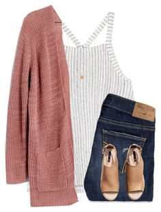 """""""it's so cold at the beach"""" by kellycarrick ❤ liked on Polyvore featuring Splendid, Madewell, Hollister Co., H&M and Cartier"""