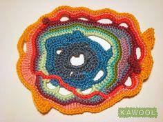 Freeform crochet practice
