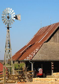 Windmill, Barn Tractor #NM