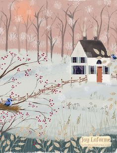 Pink Sky January by Joy Laforme
