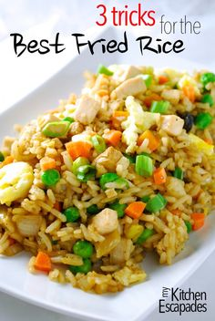 Best Chicken Fried Rice - simple recipe that has tons of vegetables and better than take out from a restaurant!  And she shares her secrets to the best result
