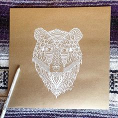 Mandala Bear by TrailtheSun on Etsy https://www.etsy.com/listing/497080005/mandala-bear