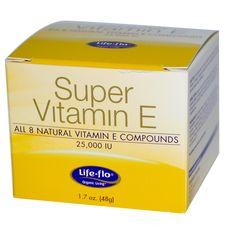 Life Flo Health, Super Vitamin E, 25,000 IU, 1.7 oz (48 g)  универсальный увл.крем