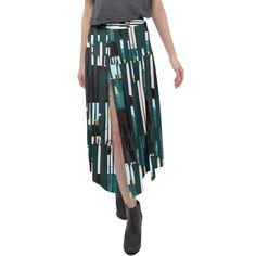Jungle Stripe Split Maxi Skirt Velour Fabric, Stripe Print, Creative Design, Tie Dye Skirt, Elegant, Skirts, How To Wear, Fashion, Classy