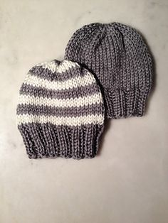 This is a basic recipe for a hat for a new born baby. It is written for two yarn types: