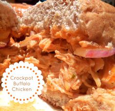 Crockpot Buffalo Chicken Sandwiches - Only 4 Ingredients