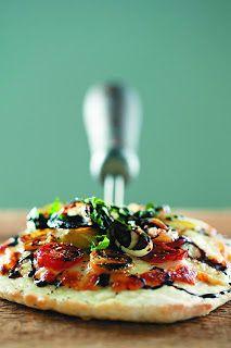 Individual Heirloom Tomato Pizzas