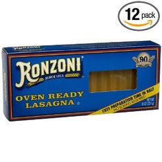 Ronzoni Oven Ready Lasagna