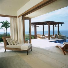 I would want this to be my bedroom and then you can just walk out onto the patio part!