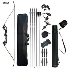 US$152.99 Feb Only. 30-60lbs Recurve Take Down Bow Set with Complete Accessories for Archery Hunting Shooting Practice Slingshot Black Camouflage ~ View this trendy piece in details on  AliExpress.com. Just click the VISIT button. #Hunting