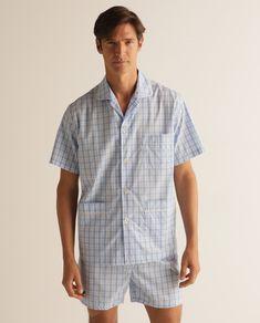 Color Azul, Button Down Shirt, Men Casual, Mens Tops, Shirts, Fashion, Blue Fabric, Men Style Casual, Jackets