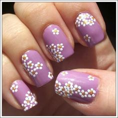 Love the daisies - different base color:) maybe turquoise;) Spring nail art  we love www.ark.co.uk