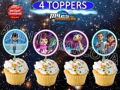 Printable Disney Miles From Tomorrowland Cupcake by ANNILORACK