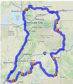 The route for our epic road trip to Southern Utah. 5 National Parks, 7 State Parks, and so much more all in 9 days.