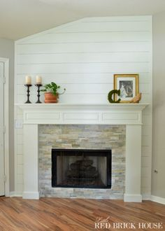 Fireplace Makeover- Stonework - Little Red Brick House