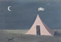 The pink tent by Gertrude Abercrombie