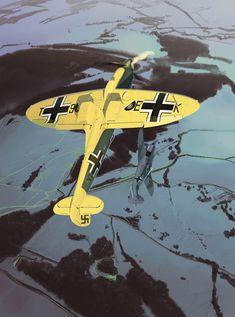 <p>Supermarine Spitfire PrXI du Cirque Rozarius & Focke wulf 190F8. Fana de l