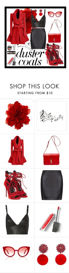 """A thing x"" by taylorr-gray ❤ liked on Polyvore featuring Gucci, WithChic, Yves Saint Laurent, La Perla, T By Alexander Wang, Burberry, Spektre, Marni and Bobbi Brown Cosmetics"