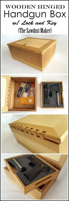 DIY Gun Box with Wooden Hinge! FREE PLANS! {The Sawdust Maker}: