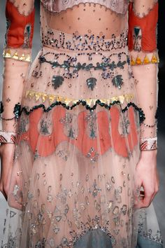 Valentino - appliqué details on the sleeves and skirt Plus