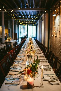Festoon Lights Wedding Lighting - Willowby by Watters Wedding Dress For A Stylish Wedding At Brixton East With Flowers by BloomingGayles And Images From Through The Woods We Ran