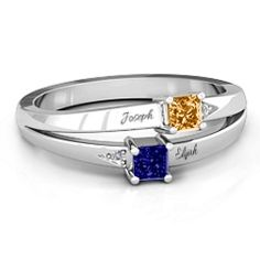Princess Stone and Accent Mother's Ring #jewlr