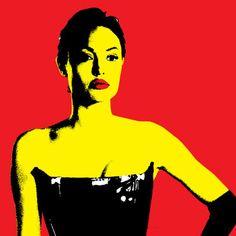 8x10 print Angelina Jolie Mrs Smith. 12.00, via Etsy.