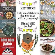 We've relaunched our website at www.soletshangout.com and now we're giving away these SIX #paleo #glutenfree #grainfree books! Head on over to enter. Contest ends 4/27