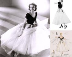 1950s Grace Kelly Dress... from Rear Window... Gorgeous with Tulle Layered Skirt...