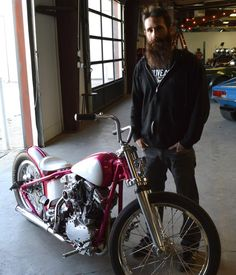 Aaron Kaufmann and his bike.  That's EXACTLY why I pinned this to my bikes board.  For the bike.  Not Aaron.  Seriously.