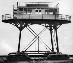 Daddy Long Legs Railway, Brighton -Tumblr. The Brighton and Rottingdean Seashore Electric Railway was a coastline railway in Brighton that ran through the shallow waters of the English Channel between 1896 and 1901