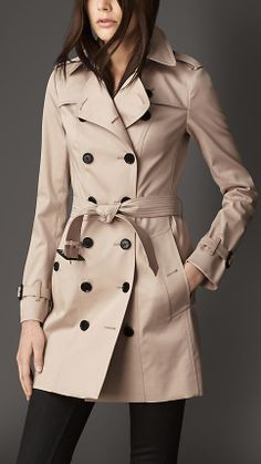 5686b75c1f7ed Burberry Brit  Crombrook  Wool Blend Trench Coat available at ...