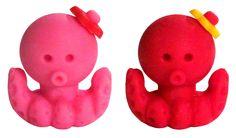 Dream Octopus Friends Mini Erasers Set: Pink & Red... 2 for 1 http://shop.kawaiidepot.com