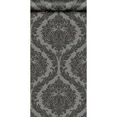Papier peint 100 intiss baroque paillette noir leroy - Papier peint bebe leroy merlin ...