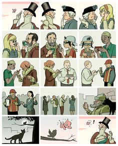 Gary Amaro, The Gossips (2013) Eustace Tilley 2013 entries : The New Yorker