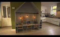 Speelhoek: bureauhuisjes van underlayment - huisje als kinderhoekje met tafeltje en stoeltjes - # Diy Interior, Interior Design, Girl House, Kids Corner, Kid Spaces, Boy Room, Home And Living, Kids Bedroom, New Homes