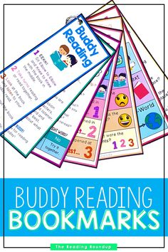 Is your Daily 5 Buddy Reading Center as effective as you'd like for it to be? These reading buddies bookmarks are guaranteed to lead to more student engagement. Elementary students can practice decoding unknown words, answering comprehension questions, making connections, and retelling stories with these bookmarks. Reading response sheets are also available for additional accountability. A must-have for your reading workshop! #thereadingroundup #daily5 #readingbuddies Summarizing Activities, Teaching Reading Strategies, Comprehension Strategies, Reading Resources, Teacher Resources, Partner Reading, Small Group Reading, Reading Response, Third Grade Reading