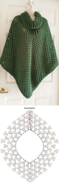 Crochet Patterns Sweter Knit-hook-Cloaks and Poncho and Shawls Poncho Knitting Patterns, Shawl Patterns, Knitted Poncho, Crochet Patterns, Baby Knitting, Poncho Sweater, Crochet Blouse, Crochet Shawl, Crochet Stitches
