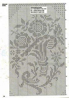 Filet Crochet, Crochet Doilies, Cross Stitch Patterns, Monochrome, Projects To Try, Gallery, Model, Rugs, Sewing