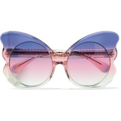 be7f8127558 Matthew Williamson Cat-eye acetate sunglasses ( 255) ❤ liked on Polyvore  featuring accessories