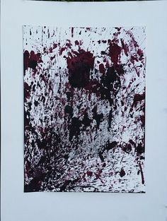 Abstract Expressionist Red and Black Painting by AutumnInBloom