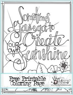 National Coloring Book Day Free Printable Page