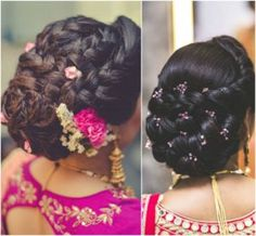 Bridal Hairstyles for the Modern Indian Bride Hairstyles Braided Hairstyles For Wedding, Bride Hairstyles, Hairstyles Haircuts, Cool Hairstyles, Indian Hairstyles, Hairdos, Hairstyle For Indian Wedding, Bridesmaid Hairstyles, Hairdo Wedding