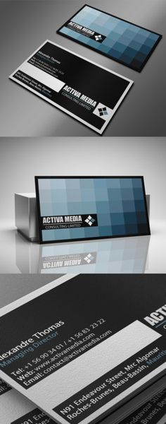 Alexandre Thomas Business Card | Negative space, color, lines, simplicity.