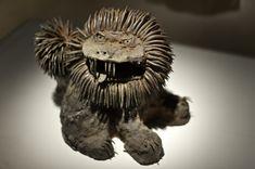 Ryosuke Otsuji's interpretation of the domestic Okinawan lion sculptures. Souzou, Wellcome Collection, London