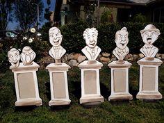 Disney Halloween Decorations, Halloween Home Decor, Outdoor Halloween, Outdoor Christmas Decorations, Halloween Ideas, Halloween Stuff, Wood Decorations, Homemade Halloween, Halloween Projects
