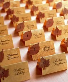 Fall wedding place cards #Fall #Wedding … Wedding ideas for brides, grooms…